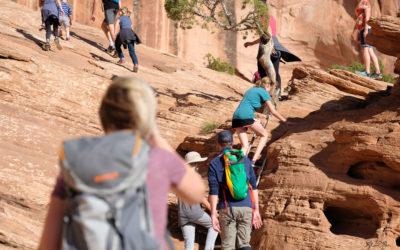 Hiking Corona Arch – Utah Adventure Family Photographer
